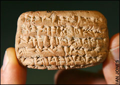 A fragment of cuneiform - Tiny tablet provides proof for Old Testament